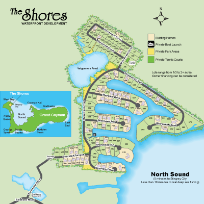 The Shores Plot Map